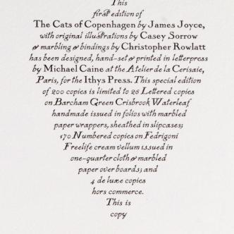 THE CATS OF COPENHAGEN James Joyce  Ithys Press