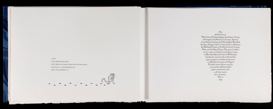James Joyce's 'The Cats of Copenhagen' (Ithys Press, 2012) Colophon