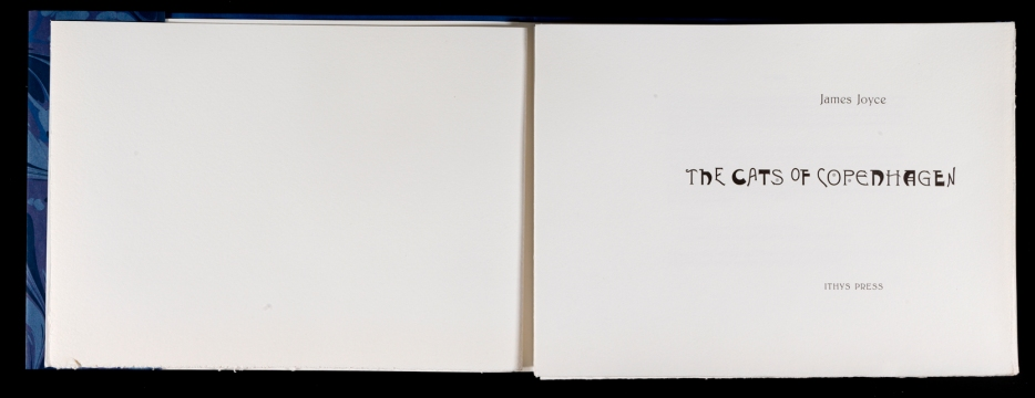James Joyce's 'The Cats of Copenhagen' (Ithys Press, 2012) Titlepage