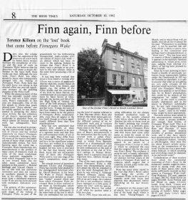 The Irish Times, 10 October 1992.