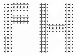 'Finn's Hotel', the monogram designed by Michael Caine.