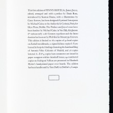 The Colophon, FINN'S HOTEL (Ithys Press, 2013)